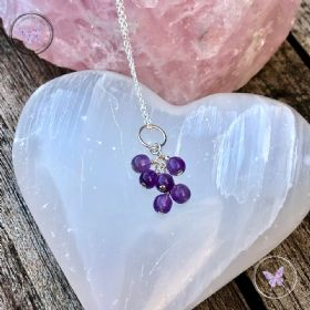 Amethyst Cluster February Birthstone Necklace